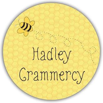 Honeycomb and Bee Round Gift Sticker