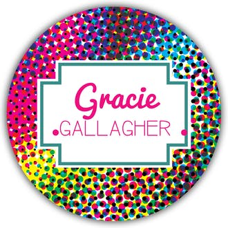 Groovy Round Gift Sticker