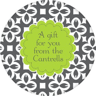 Bold Pattern Round Gift Sticker
