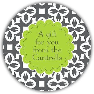 Bold Pattern Round Gift Sticker