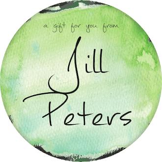 Green Watercolor Circle Gift Sticker