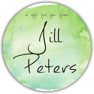 Green Watercolor Circle Gift Sticker