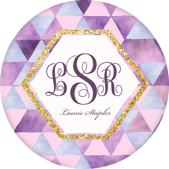 Purple Watercolor Circle Gift Sticker