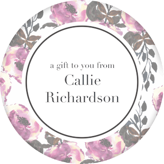 Floral Circle Gift Sticker