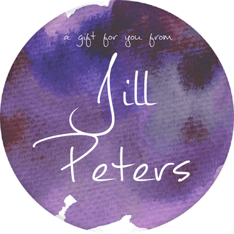 Purple Watercolor Circle Gift Sticker