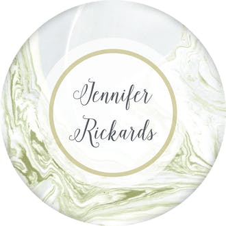 Marbled Circle Gift Sticker
