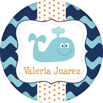 Whale Circle Gift Sticker