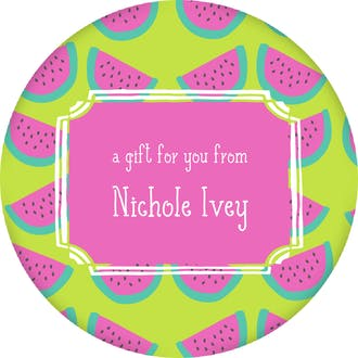 Watermelon Circle Gift Sticker
