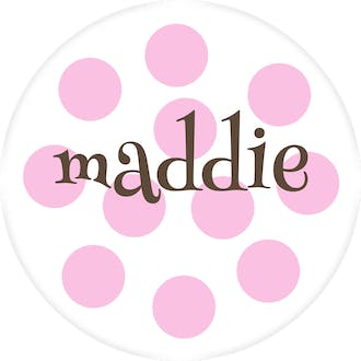 Pink Dots Water-Resistant Label