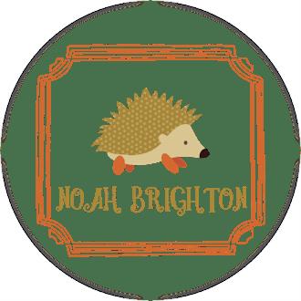 Hedgehog Water-Resistant Label