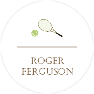 Tennis Water-Resistant Label