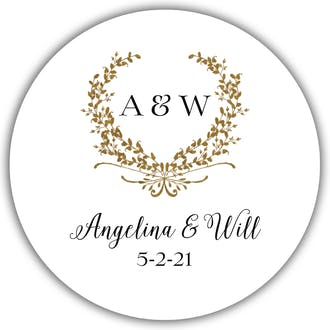 Gleaming Wreath Gift Sticker