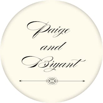 Elegant Medallion Circle Gift Sticker