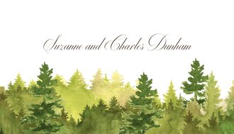 Watercolor Forest Enclosure Card | EC