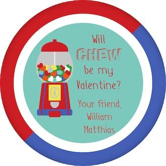 Gumball Valentine Gift Sticker