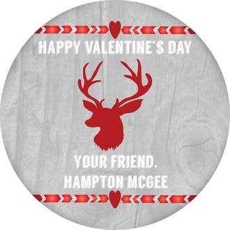 Deer Valentine Gift Sticker