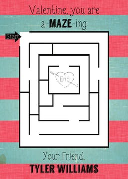 A-maze-ing Valentine Card