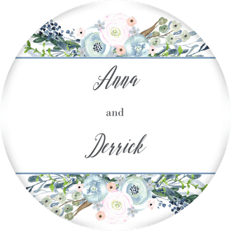 Watercolor Florals Gift Sticker