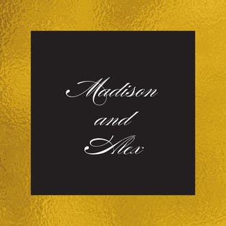 Black & Gold Gift Sticker