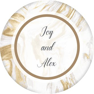 Lustrous Marble Gift Sticker