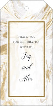 Lustrous Marble Foil-Pressed Gift Tag