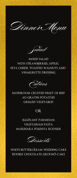 Black & Gold Menu