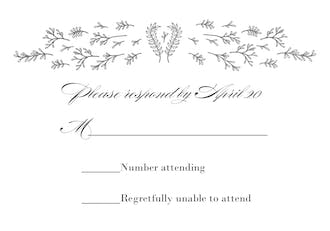 Glistening Florets Foil-Pressed Reply Card