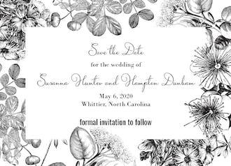 Classic Floral Save The Date Card