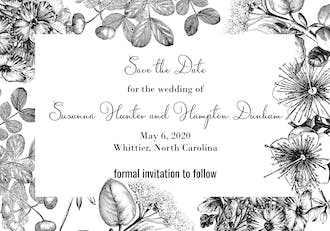Classic Floral Save The Date Magnet