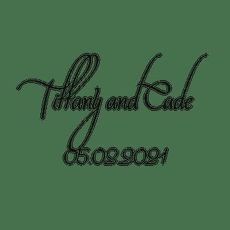 Calligraphy Square Gift Sticker