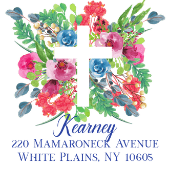 Garden Cross Return Address Sticker