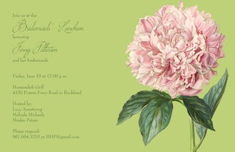 Watercolor Peony Invitation