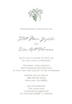 In the Vineyard Invitation