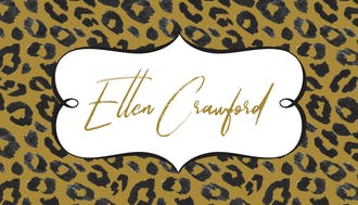 Wild Leopard Enclosure Card