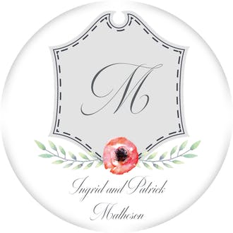 Crest Motif 22 Gift Sticker