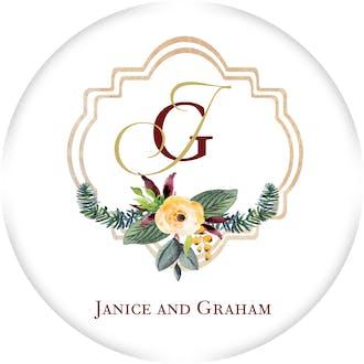 Crest Motif 21 Gift Sticker