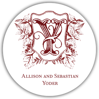 Crest Motif 15 Gift Sticker