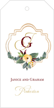 Crest Motif 21 Hanging Gift Tag
