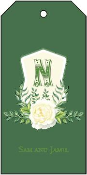 Crest Motif 19 Hanging Gift Tag