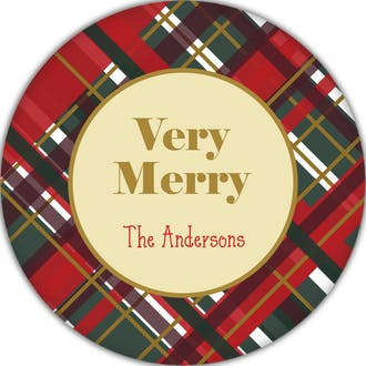 Scotch Plaid Gift Sticker