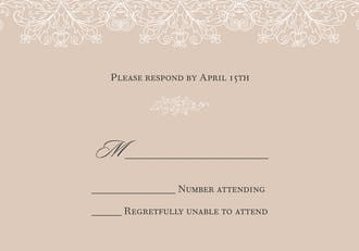 Lace Reply Card