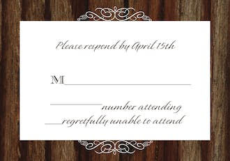 Cherry Wood Reply Card