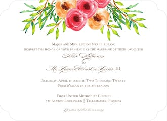 Watercolor Florals Invitation