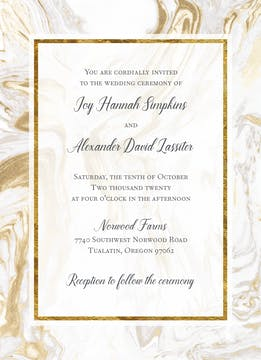 Marbled Elegance Invitation
