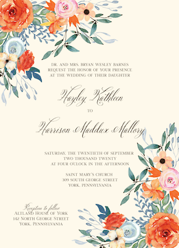 Fresh Floral Invitation
