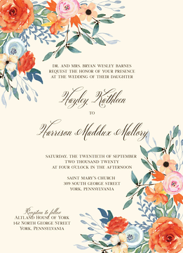 Fresh Floral Invitation