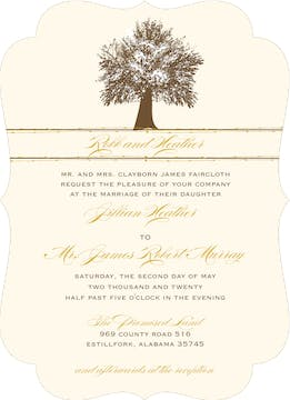 Oak Tree Invitation