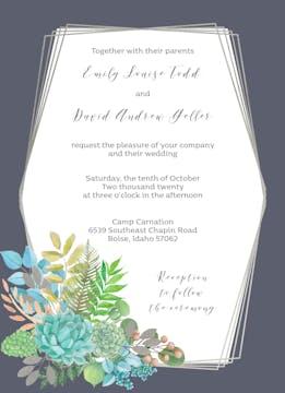 Modern Succulents Invitation
