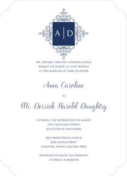 Elegant Medallion Invitation