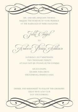 Swanky Invitation